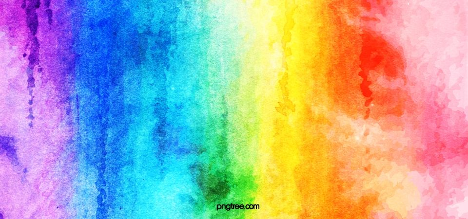 Gradual Texture Background Of Rainbow Watercolor Brush