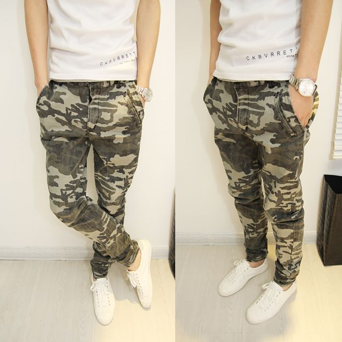 56f3016a6c 2014 mens Camouflage pants skinny pants trousers overalls trousers for  men-inPants from Apparel   Accessories on Aliexpress.com