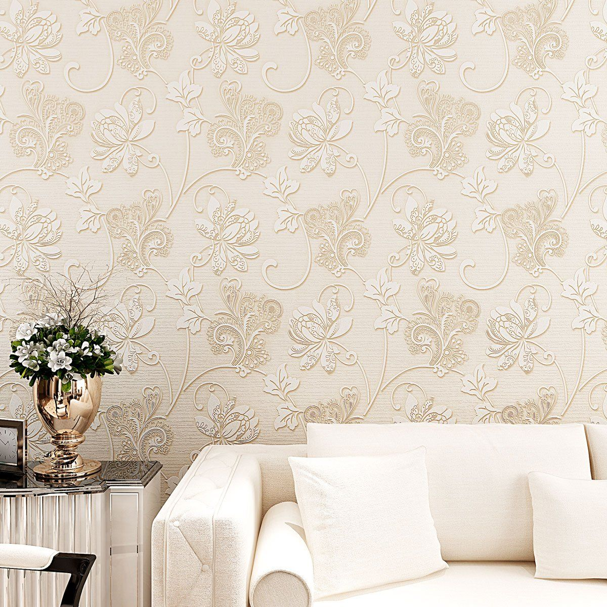 SICOHOME 3D Embossed Texture Flower Peel and Stick