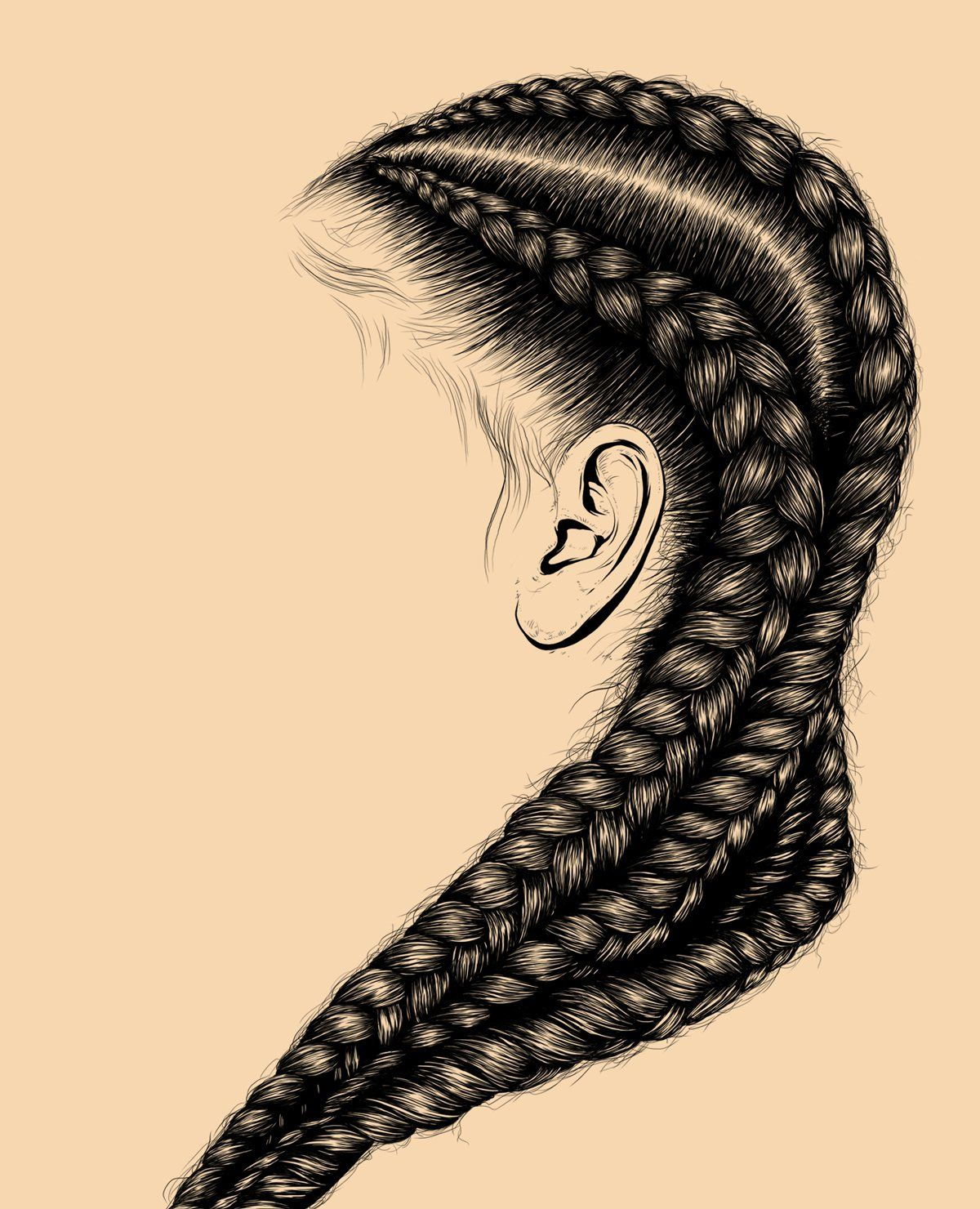 hair illustration digital art