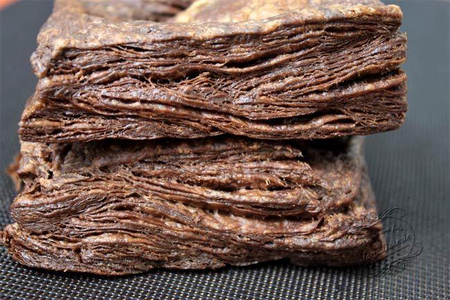 Pâte feuilletée facile et rapide au chocolat #patefeuilleteerapide