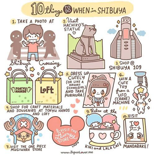 10 must things to do in Shibuya