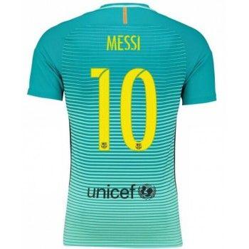 df431dc897a36 Camisetas De Futbol Barcelona Messi 10 Tercera equipación 2016-17 ...