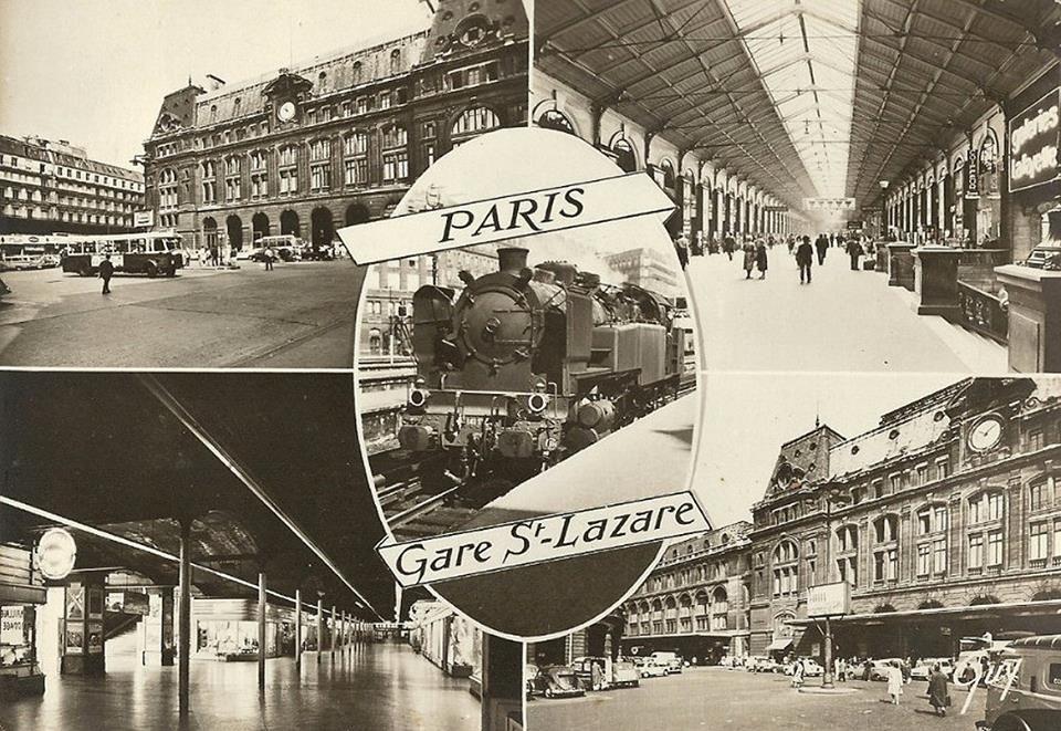 Paris - Gare Saint Lazare vers 1965