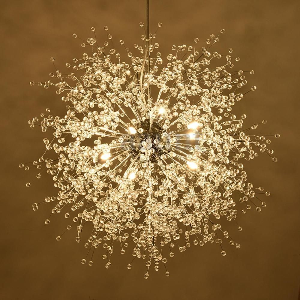 Modern Dandelion Led Chandelier Fireworks Pendant Lamp Ceiling Light Home Decor Garden