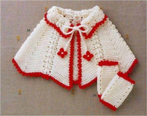 Une cape crochet pour fillette - Le blog de pipiou13 | Crochet Cape ...