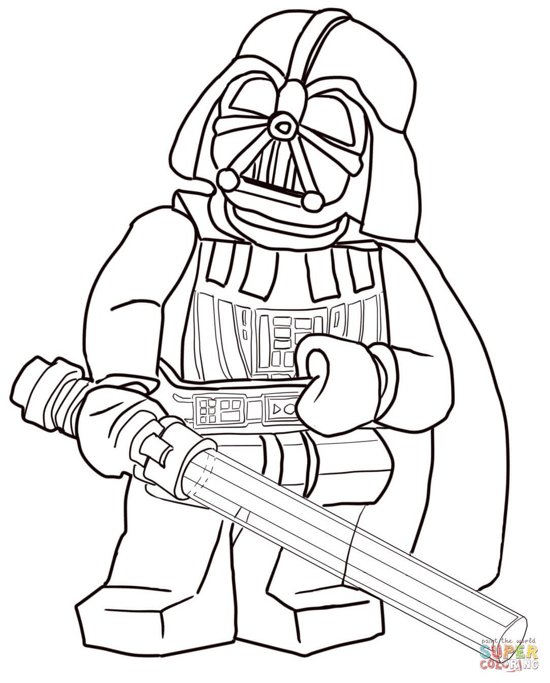 Lego Star Wars Darth Vader Super Coloring Coloriage