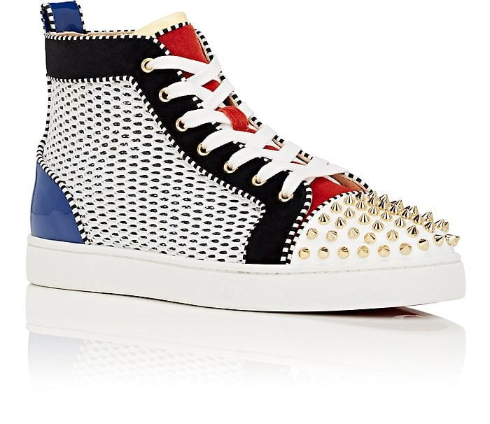 e42304935cf0 Christian Louboutin Louis Spikes Flat Sneakers - 10.5 M Red ...