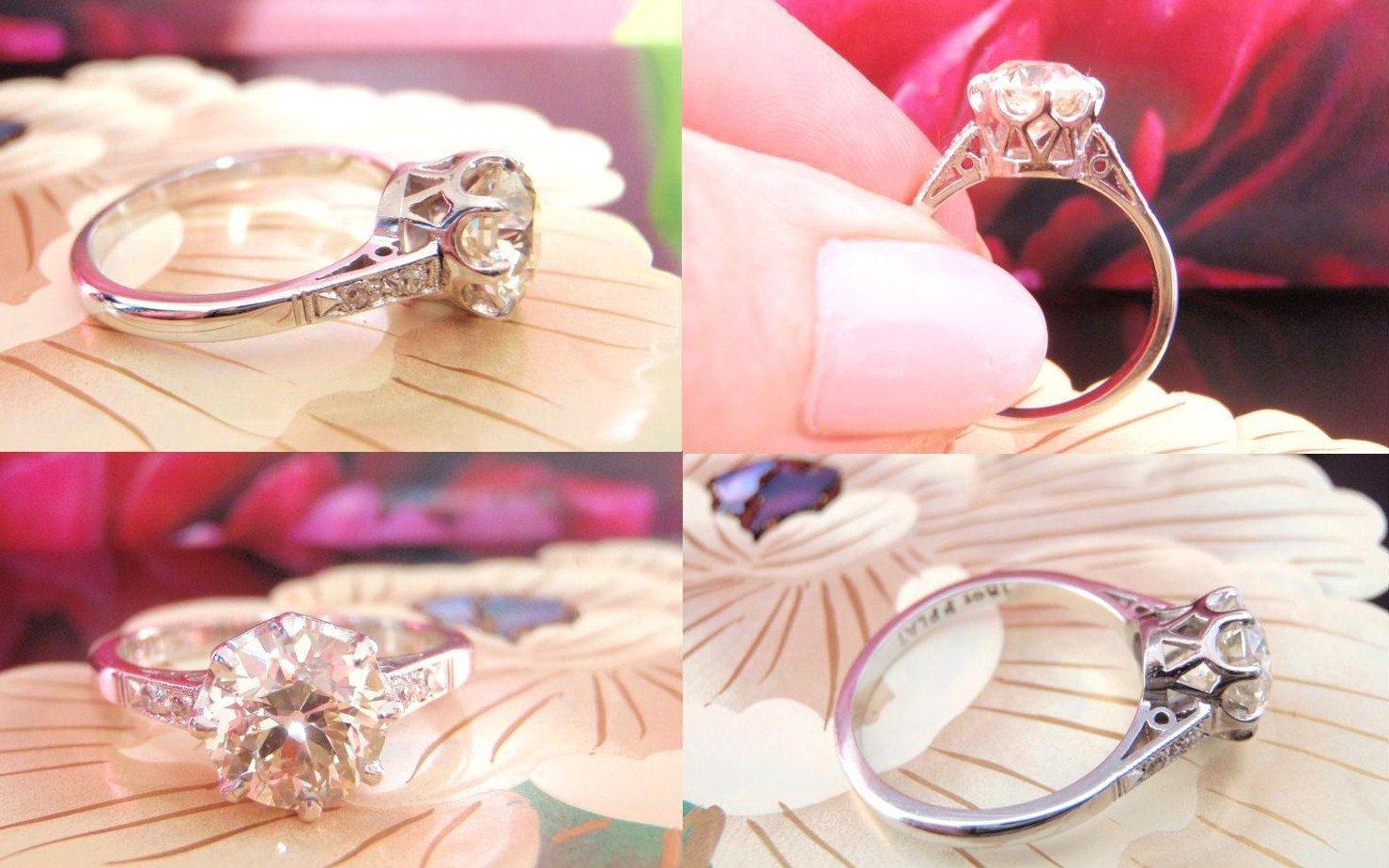 Big and Exquisite. Impressive 1.55CT Solitaire Old European Diamond ...