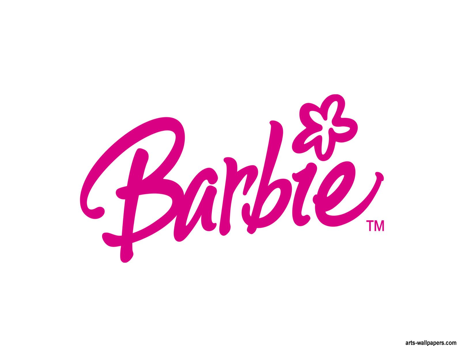 Barbie Or Your Name Script W Silhouette Vinyl Decal Stickers Font Logo Birthday Baby Shower Party Treat Bags Favors Ideas Pink Black Barbie Barbie Silhouette Silhouette Vinyl