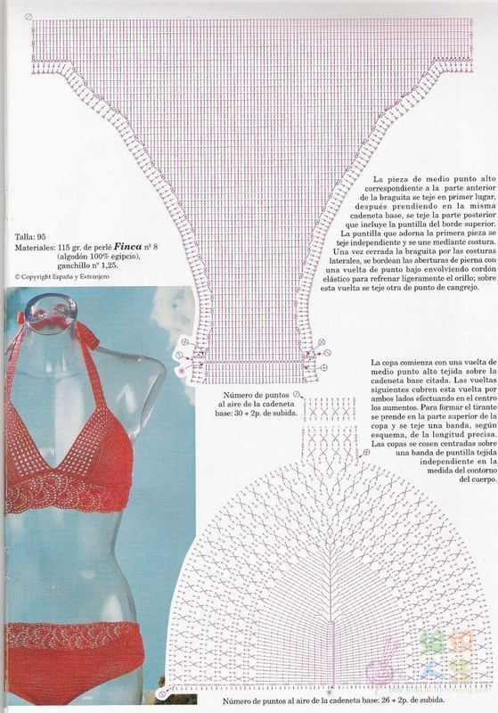 Patron Bikini de Crochet | barbara | Pinterest | Patrones crochet ...