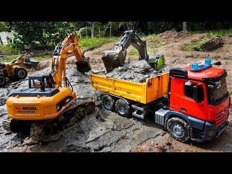231 Tiga Mobil Truk Tronton Scania Rc Muat Lumpur Excavator Rc Beko Keruk Youtube Di 2021 Mobil Lumpur Truk