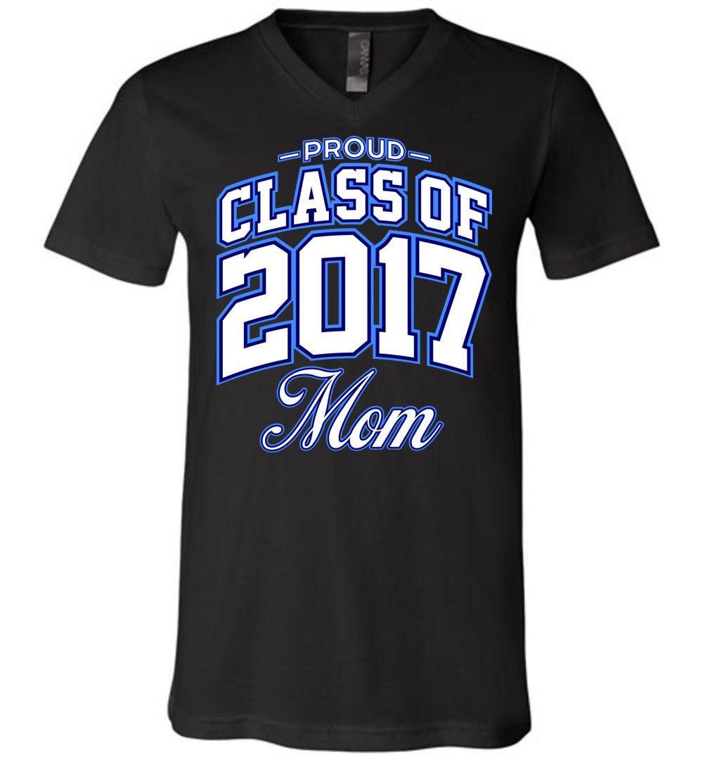 Proud Class of 2017 Mom Unisex V-Neck T-Shirt