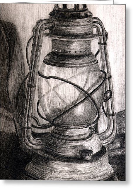 Lantern Greeting Card For Sale By Karla Horst Lantern Drawing