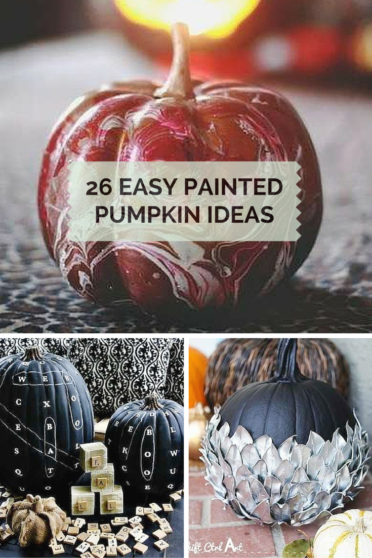 35 Easy Painted Pumpkins to Perk Up Your Halloween #paintedpumpkinideas Get ready for fall decorating with these cool ideas for painted pumpkins. Perfect for the porch curb appeal or even a rustic centerpiece. #falldecorideasfortheporch
