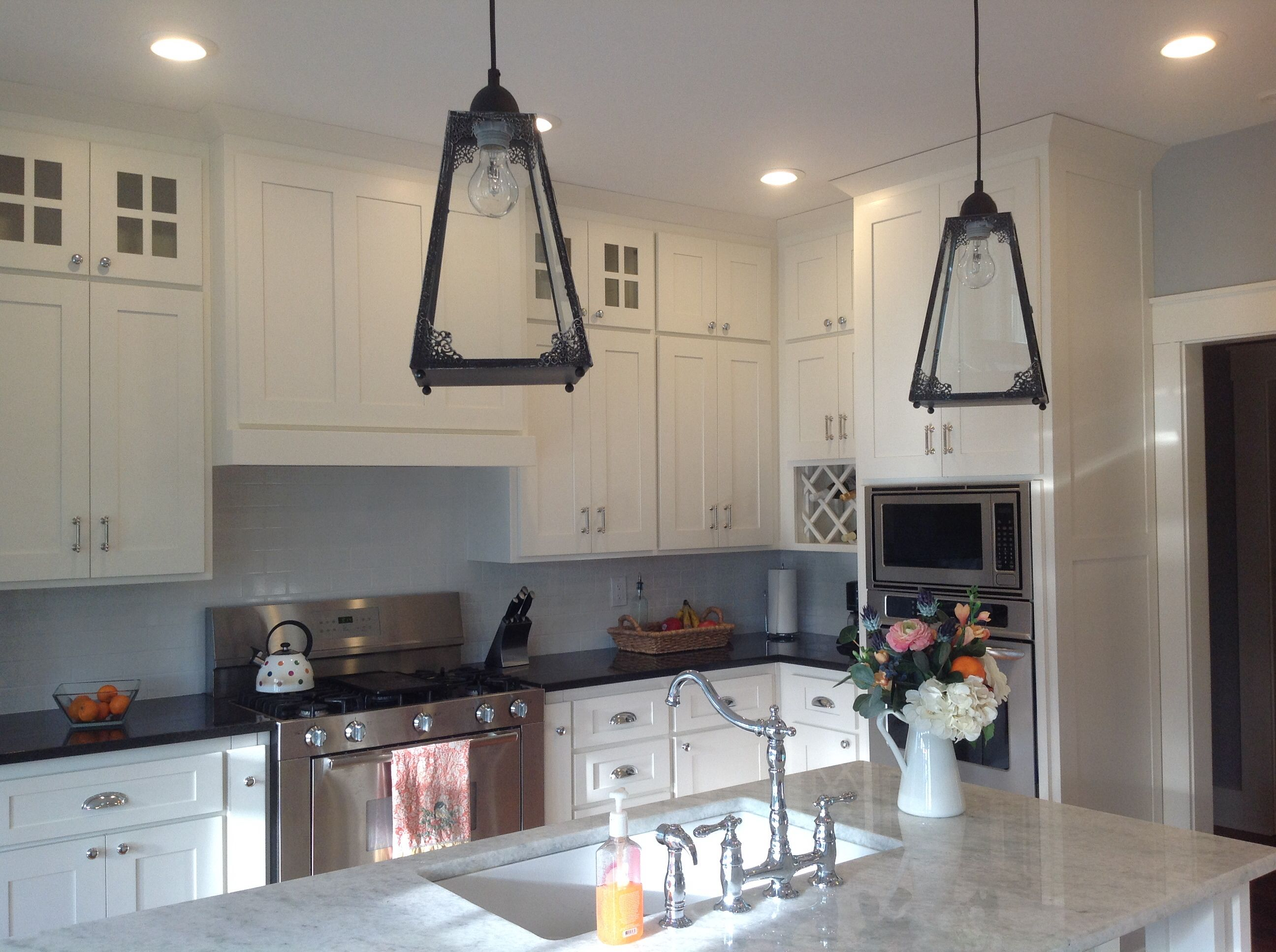 Hobby Lobby Lanterns Turned Into Pendant Light Fixtures