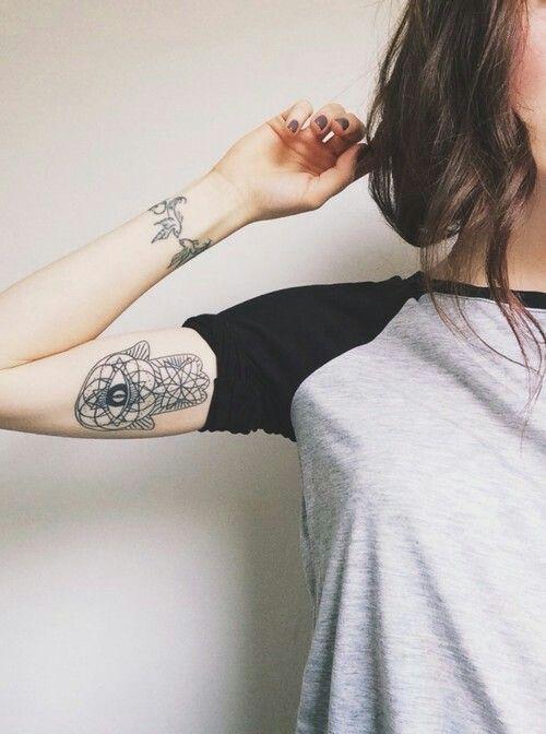 Hamsa And Bird Tattoo Inner Arm Tattoo Trendy Tattoos Tattoos