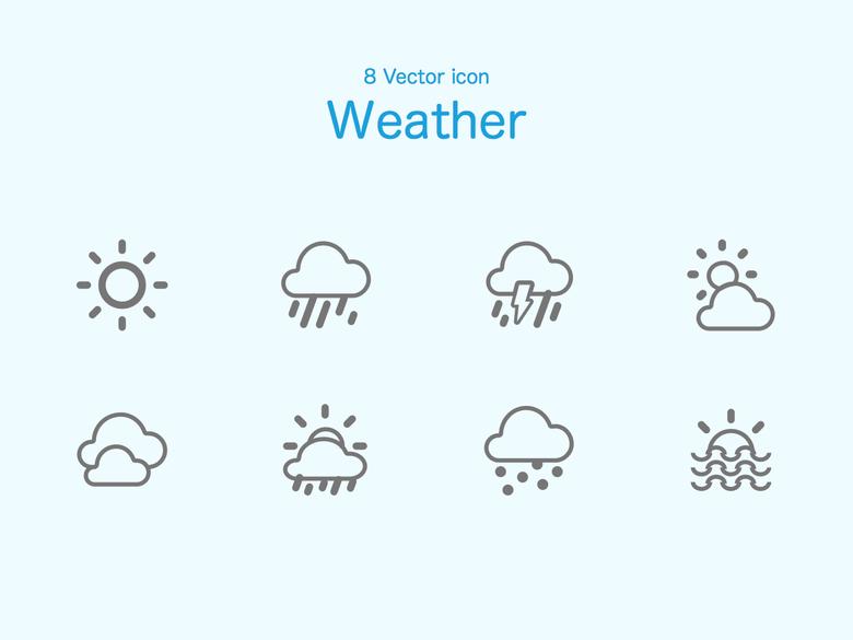 8 Weather Icons