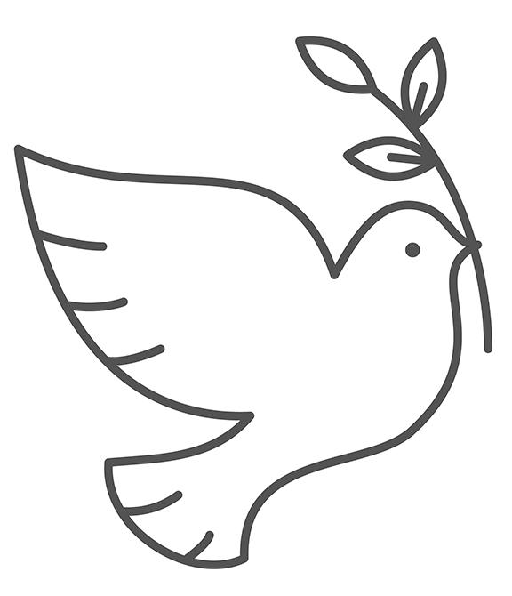 Dibujo De Paloma De La Paz Para Imprimir Buscar Con Google Paloma De La Paz Dibujos De Palomas Decoraciones Para El Primer Cumpleanos