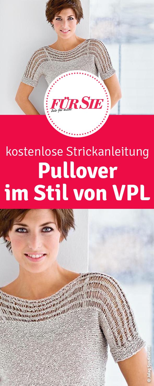 Strickpulli im Stil von VPL   Strickanleitung pullover ...
