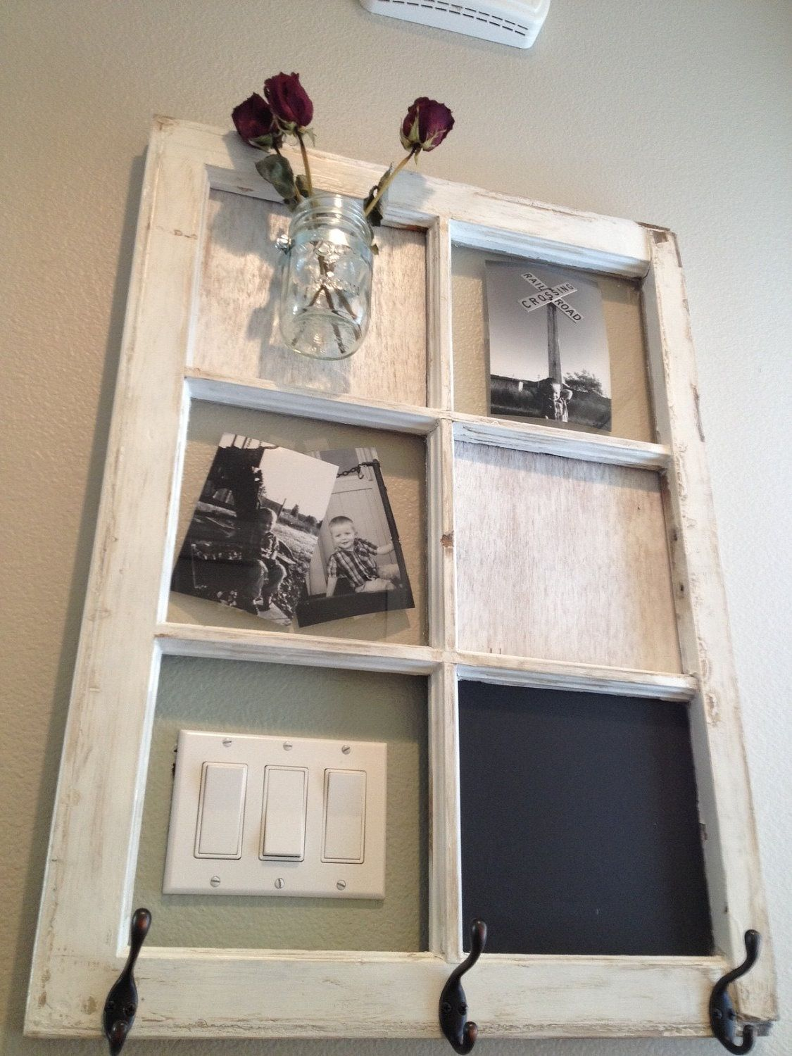 Salvage a window with this awesome DIY home decor idea ! Perfect ...