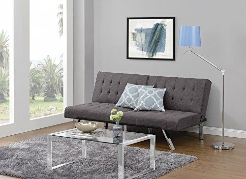 Excellent Dhp Emily Convertible Linen Futon Gray Furniture Futon Pabps2019 Chair Design Images Pabps2019Com