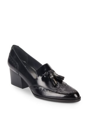 Stuart Weitzman Tassel-Embellished Loafer Pumps