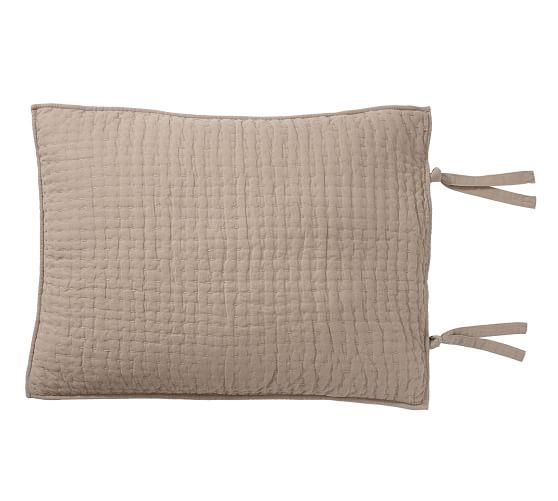 PickStitch Handcrafted Quilted Sham flax Pick stitch