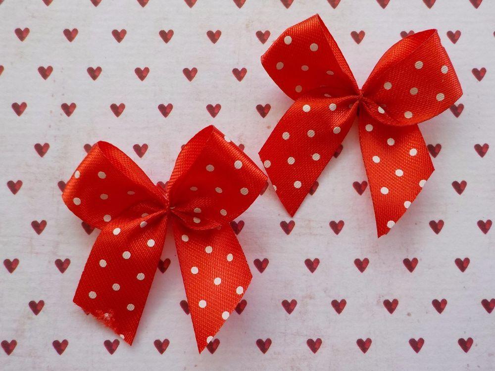 Stylish Black Bow Embellishments For Cardmaking! Pretty Polka Dot Bows 100
