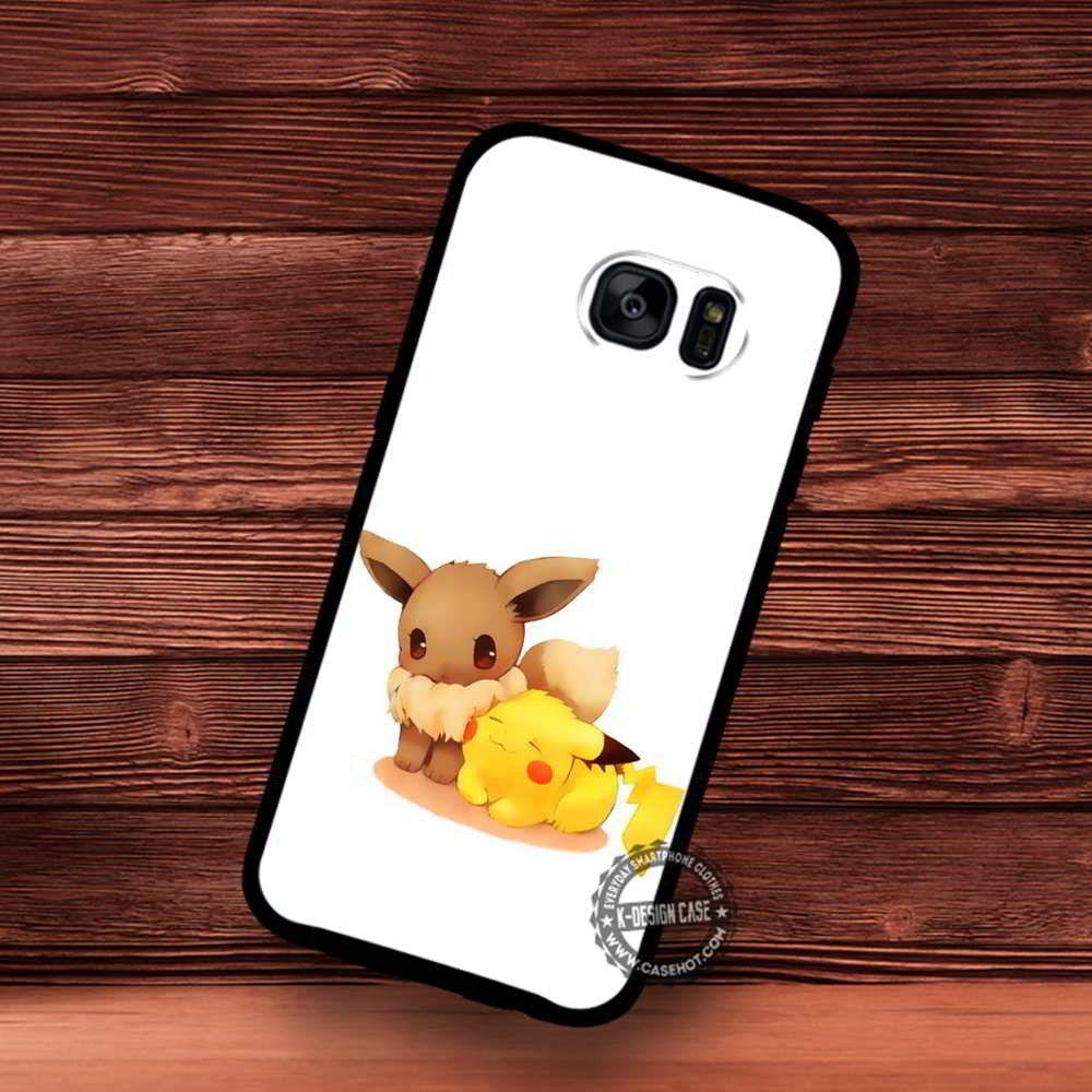 pretty nice 77b29 0f304 Eevee and Pikachu Monster Pokemon iPhone 4/5/SE Cases Samsung Galaxy ...