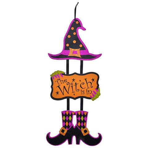 Bulk Halloween Dangling Witch Wall Signs, 725x1675 in at