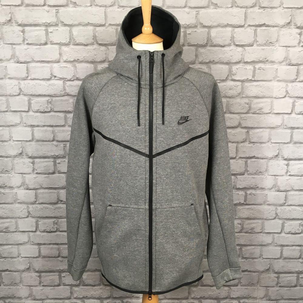 Nike mens uk xl tech fleece grey full zip hoodie