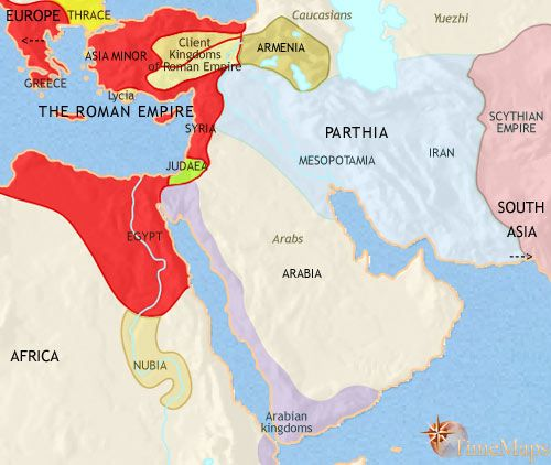 history map of Middle East 30BC  The Middle East Collection