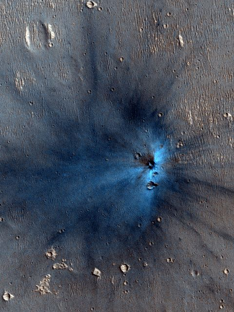 Possible (and likely) new crater on Mars