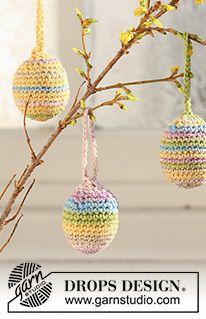 Photo of Candy Eggs / DROPS Extra 0-500 – Kostenlose Häkelanleitungen von DROPS Design