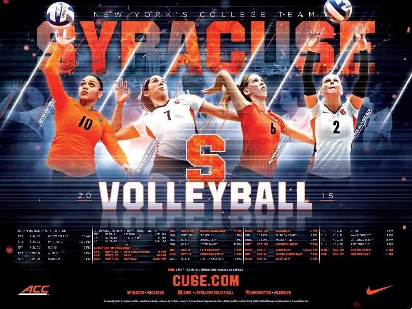 Posterswag Com Top 30 Ncaa Volleyball Schedule Posters Smsports Sportsbiz Volleyball Posters Volleyball Team Poster Ideas