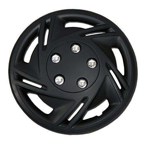 Tuningpros Wsc 602b14 Hubcaps Wheel Skin Cover 14 Inches Matte Black Set Of 4 Black Set Matte Black Matte