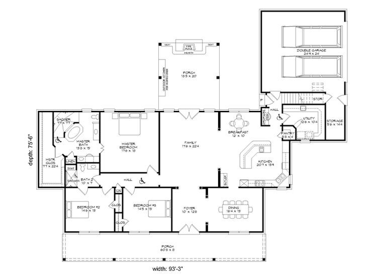 Floor Plan Accessible House Plans Accessible House House Plans