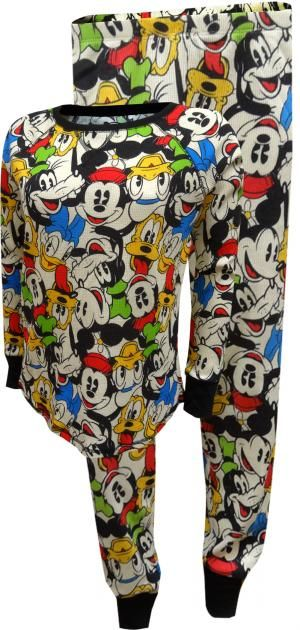 Disney Mickey Mouse Thermal Pajama Set for Women