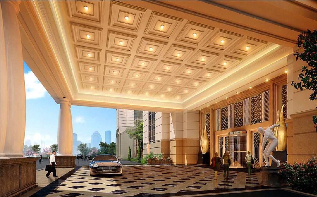 Hotel entrance ceiling design 3d download 3d house for Hotel ceiling design