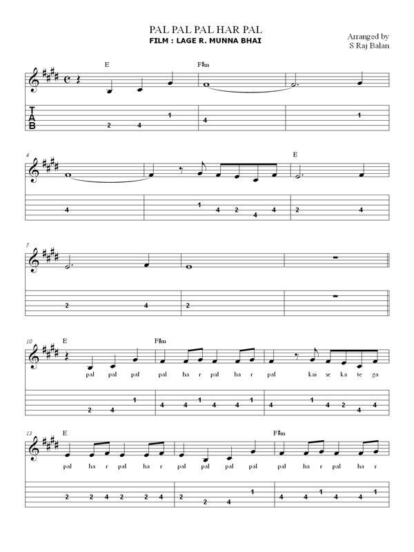 Bollywood Songs Keyboard Guitar 1 Pdf Bollywood Sheet Music Books Sheet Music Book Sheet Music Notes Music Book
