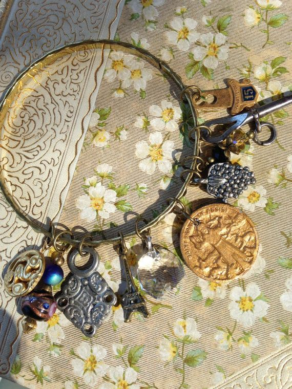Antique Button Curiosity bangle by OldNouveau on Etsy