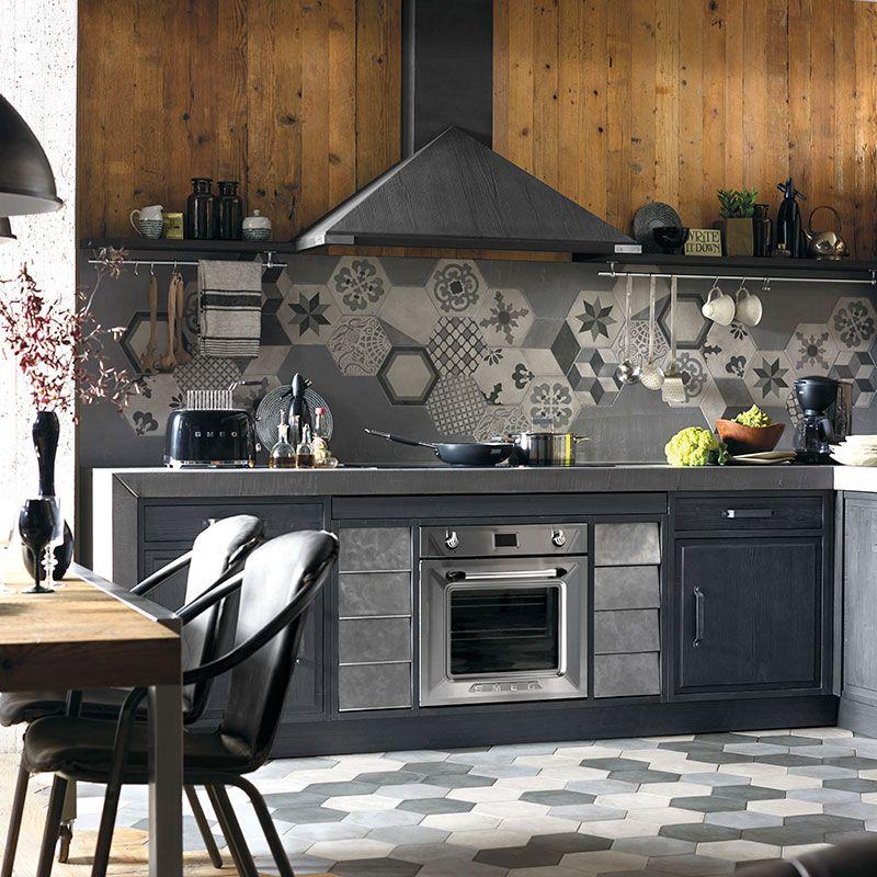 La cucina componibile Brera 76 è in vero legno massello ...