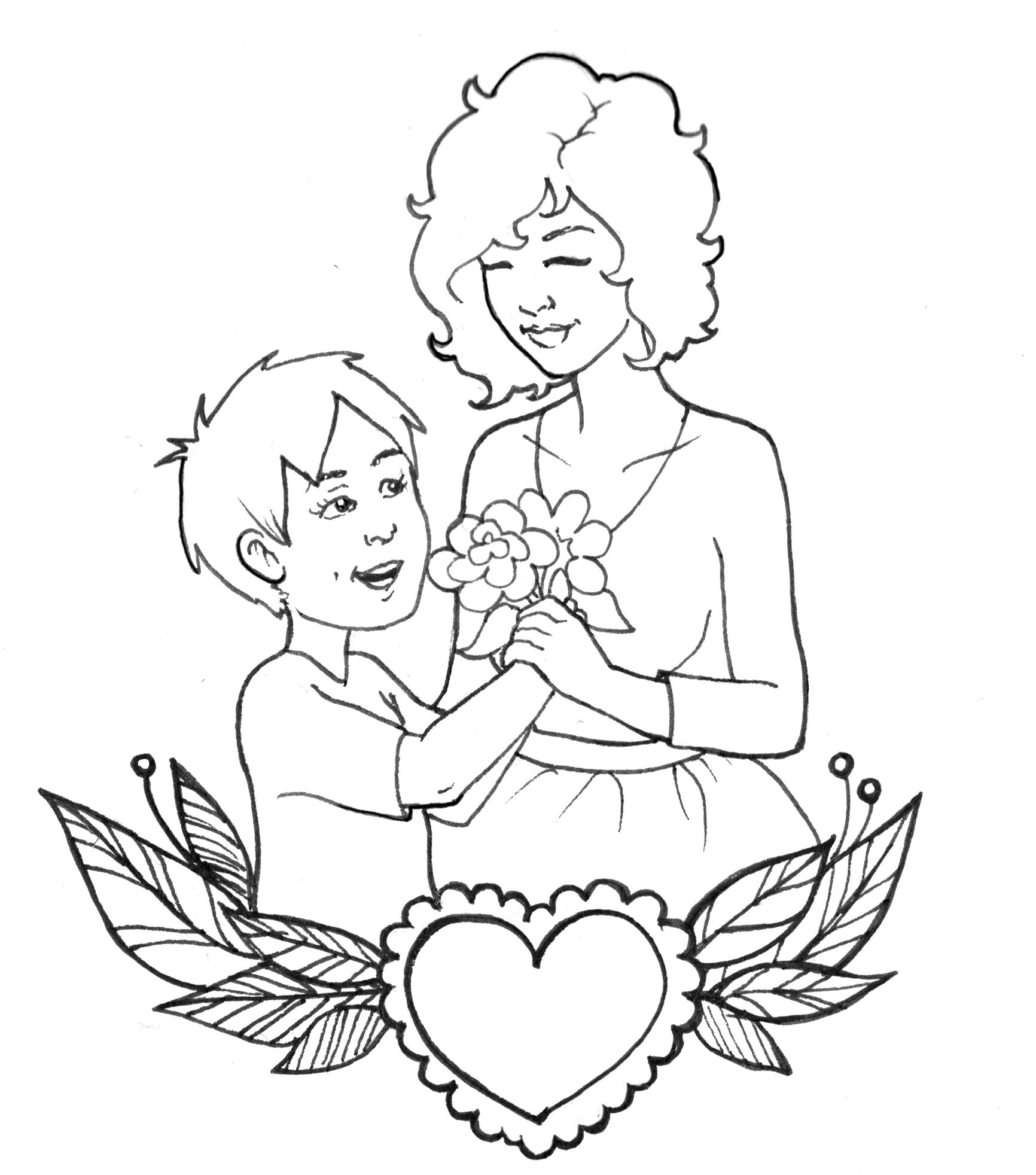 Mothers Day Coloring Sheet Lucalashes