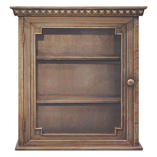 Special Offers - Wooden Wall Cabinet Vintage Design Bar Storage 24 x 22 x 8 Inches Natural Bathroom Glass Door Bedroom Kitchen Pantry Spice Rack Man Cave - In stock & Free Shipping. You can save more money! Check It (April 06 2016 at 10:04AM) >> http://bathvanitiesusa.net/wooden-wall-cabinet-vintage-design-bar-storage-24-x-22-x-8-inches-natural-bathroom-glass-door-bedroom-kitchen-pantry-spice-rack-man-cave/