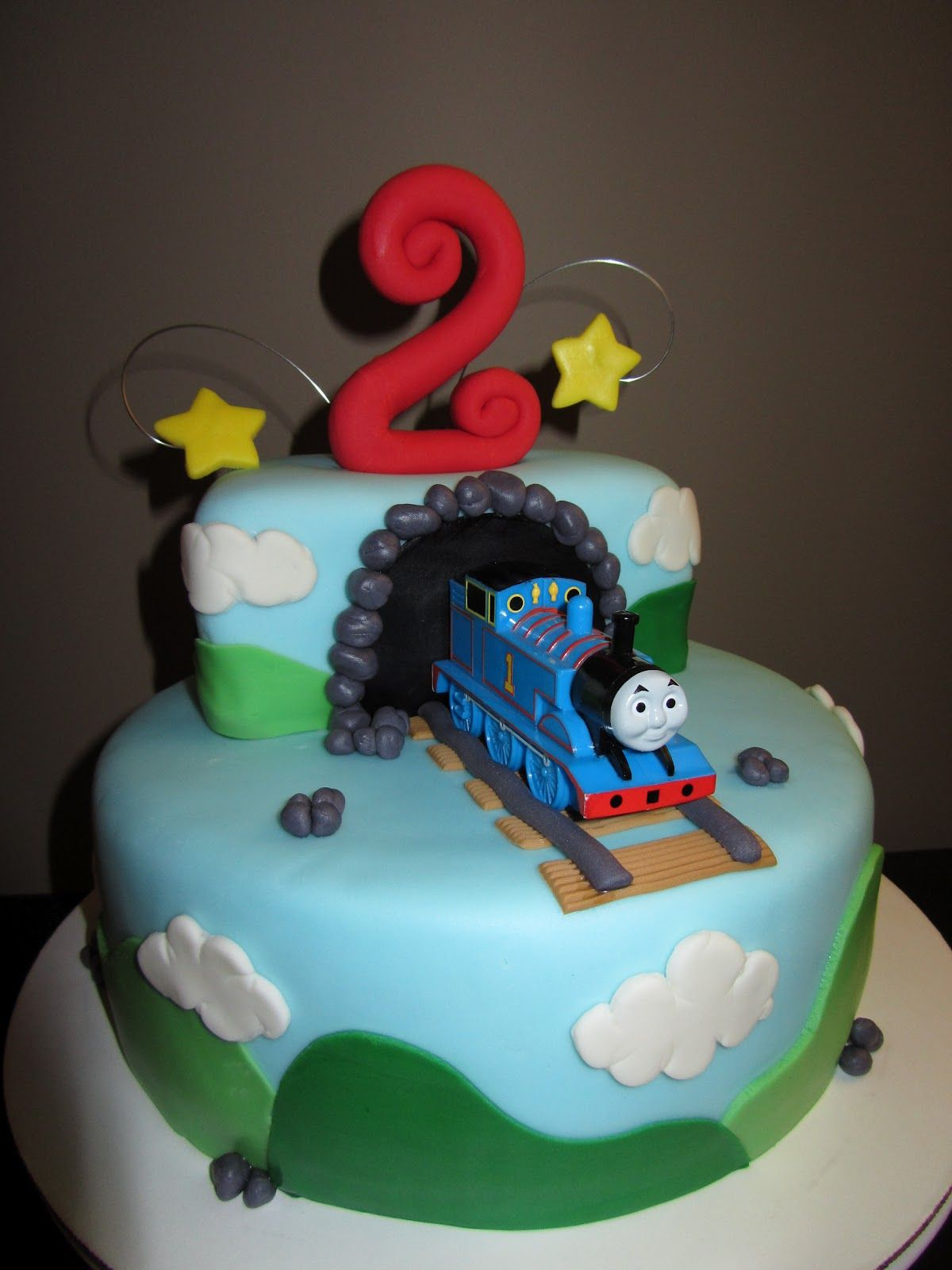 Thomas The Train Birthday Cake Thomas The Train 2nd Birthday Cake