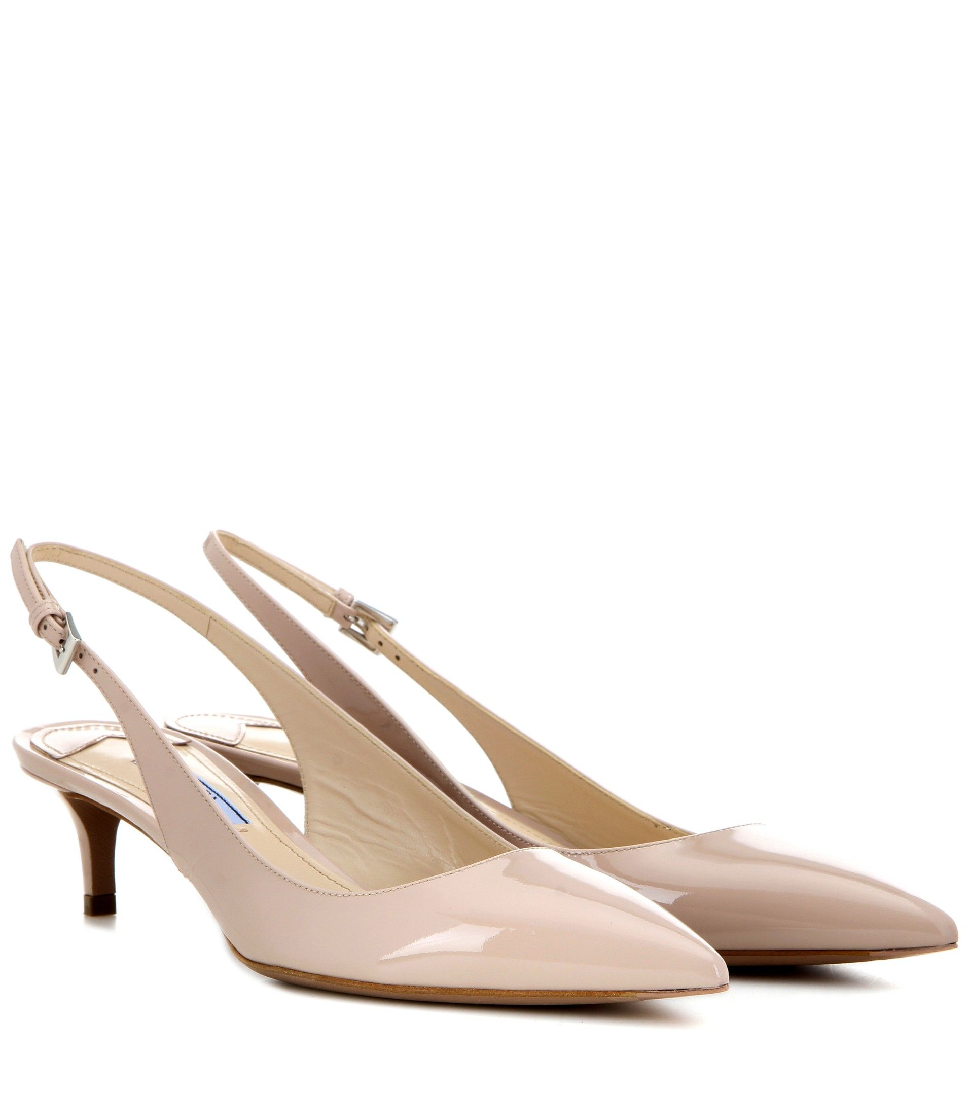 Prada Patent leather slingback pumps phUK1TxHG
