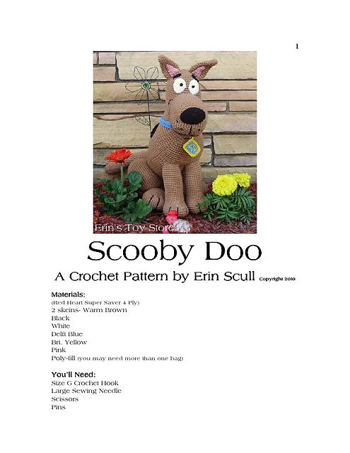Ravelry: Amigurumi scooby doo by Erin Scull pattern by Erin Scull ...