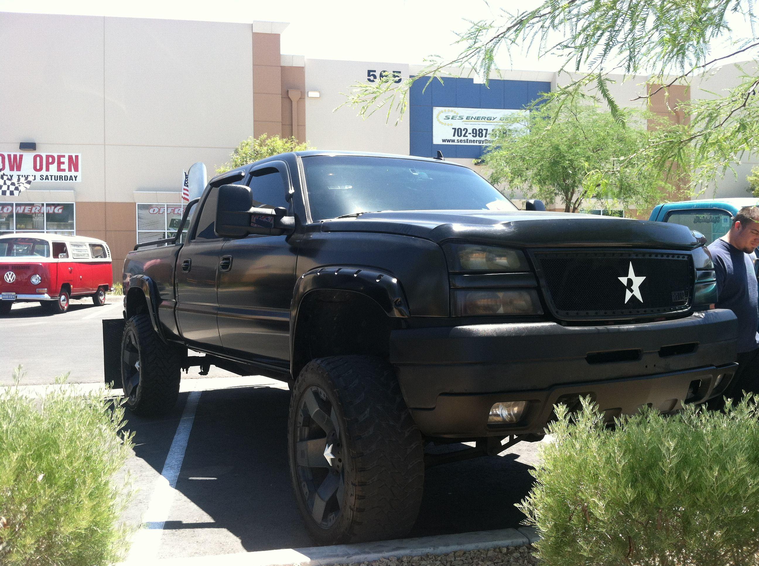 Chevy 2500 rockstar wheels custom stacks