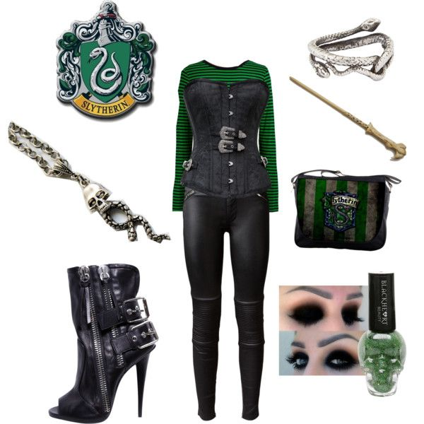 U0026quot;Slytherin Outfitu0026quot; by jennyfreeman on Polyvore   Polyvore Collections   Pinterest   Slytherin ...
